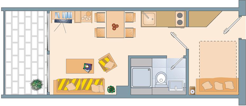Appartement Grundriss compact