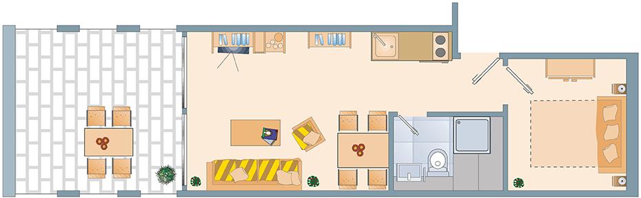 Appartement Grundriss maxi